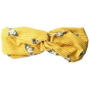 BCBGeneration Femme Floral Yellow Twisted Headband